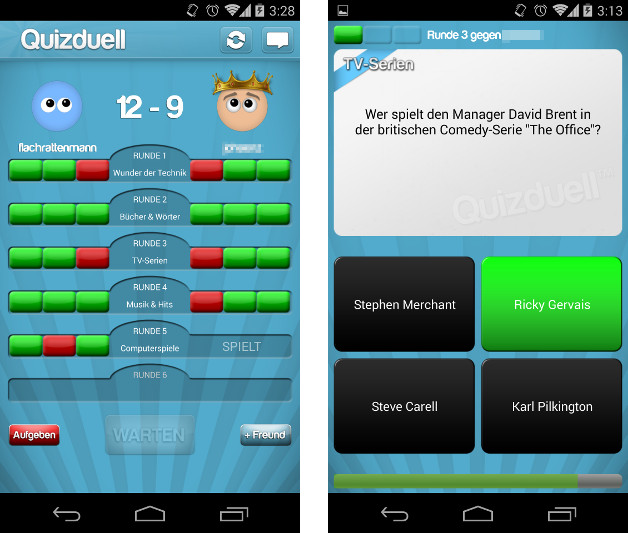 Quizzduell App