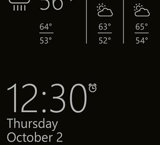 Glance Screen Blick App Lumia Smartphone