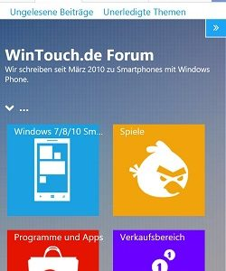 WinTouch Forum neues Design